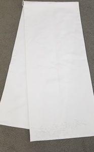 White satin shawl